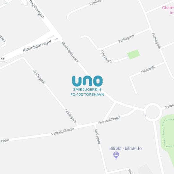 Google maps til Uno, Smiðjugerði 6