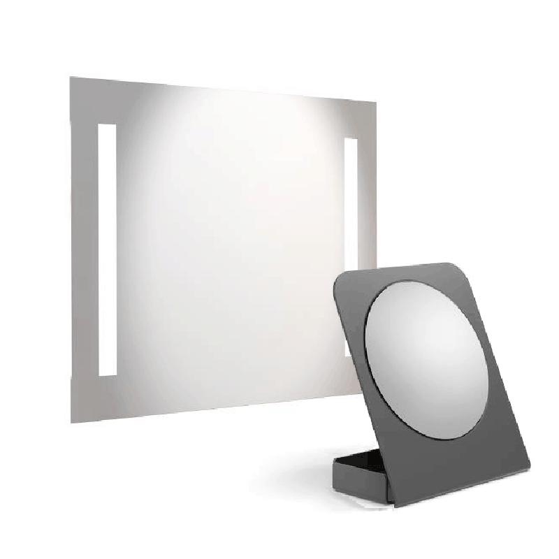 LED spegl og kosmetikk spegl sum forstørrar upp í 5 ferðir
